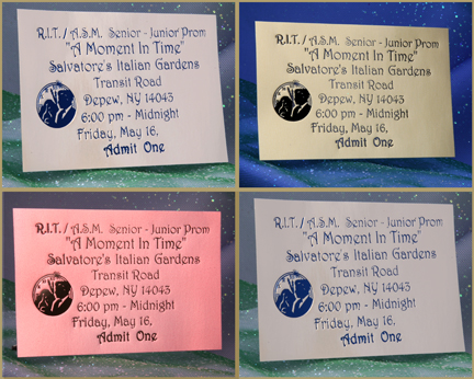 Hot Stamp Foil Imprinted Prom Tickets Formal Prom Tickets Keepsake Prom  Tickets   Proms.net   The Prom Planning Network  Prom Tickets Design